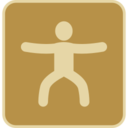 Vintage Leg Exercise Icon