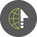 Up Arrow Globe Icon