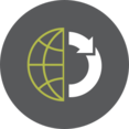 Cycle Globe Icon