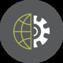 Gear Globe Icon