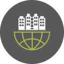 Office Building Globe Icon
