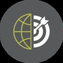 Bullseye Globe Icon