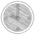 Handdrawn Clock Icon