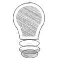 Handdrawn Light Bulb Icon