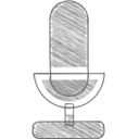 Handdrawn Microphone Icon