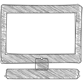Handdrawn Computer Icon