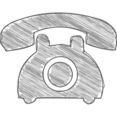 Handdrawn Telephone Icon
