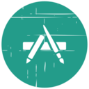 App Store Blue Distressed Icon