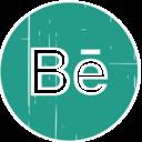 Behance Blue Distressed Icon