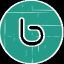 Buzz Blue Distressed Icon