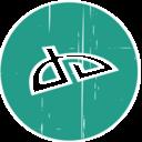 DeviantArt Blue Distressed Icon