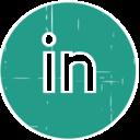 LinkedIn Blue Distressed Icon