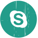 Skype Blue Distressed Icon