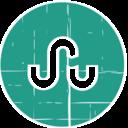 StumbleUpon Blue Distressed Icon