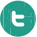 Twitter Blue Distressed Icon