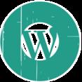 WordPress Blue Distressed Icon