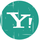 Yahoo! Blue Distressed Icon