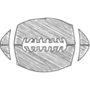 Hand-Drawn Football Icon