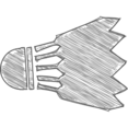 Hand-Drawn Badminton Icon