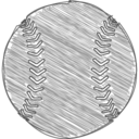 Hand-Drawn Baseball Icon