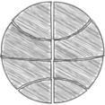 Hand-Drawn Basketball Icon