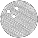 Hand-Drawn Bowling Ball Icon