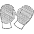 Hand-Drawn Boxing Gloves Icon