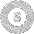 Hand-Drawn Pool Ball Icon
