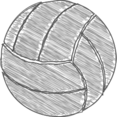 Hand-Drawn Volleyball Icon