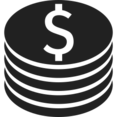 Glyph Coins Icon