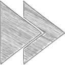 Handdrawn Fast Forward Icon