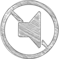 Handdrawn Mute Icon