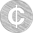 Handdrawn Cedi Icon
