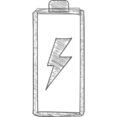 Electrical Charge Hand-Drawn Icon