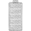 New Battery Hand-Drawn Icon