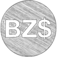 Handdrawn Belize Dollar Icon