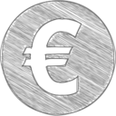 Handdrawn Euro Icon