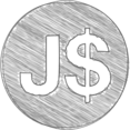 Handdrawn Jamaica Dollar Icon