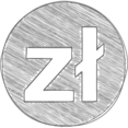 Handdrawn Polish Zloty Icon