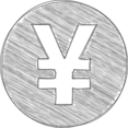Handdrawn Yen Icon