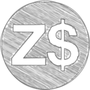 Handdrawn Zimbabwe Dollar Icon