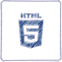 Handdrawn HTML5 Icon