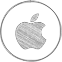 Handdrawn Apple Icon