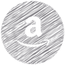 Amazon Scribble Style Icon