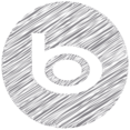 Retro Bing Scribble Style Icon