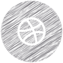 Dribbble Scribble Style Icon