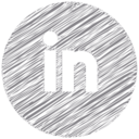 LinkedIn Scribble Style Icon