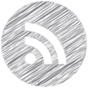 RSS Scribble Style Icon