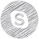 Skype Scribble Style Icon