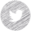 Twitter Bird Scribble Style Icon